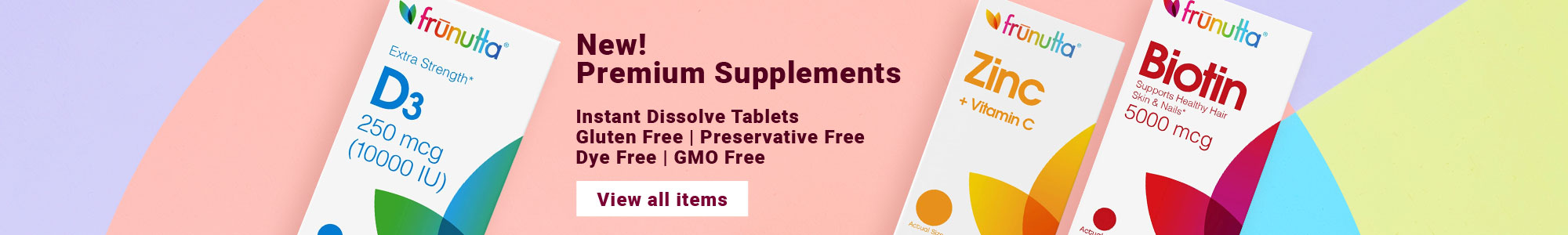 New! Premium Supplements Instant Dissolve Tablets Gluten Free, Preservative Free, Dye Free, GMO Free. View all items