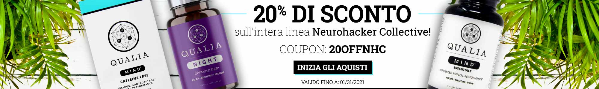 20% off entire Neurohacker Collective line. Use Coupon code: 20offnhc Shop now. Valid until 01/31/2021.