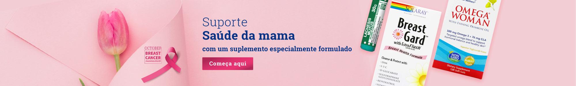 Suporte Saúde da mama com um suplemento especialmente formulado Começa aqui