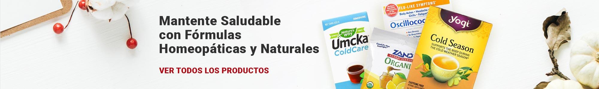 Mantente Saludable con Fórmulas Homeopáticas y Naturales para el Resfriado y la Gripe. VER TODOS LOS PRODUCTOS