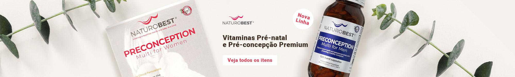 NaturoBest Nova Linha Vitaminas Pré-natal e Pré-concepção Premium Veja todos os itens