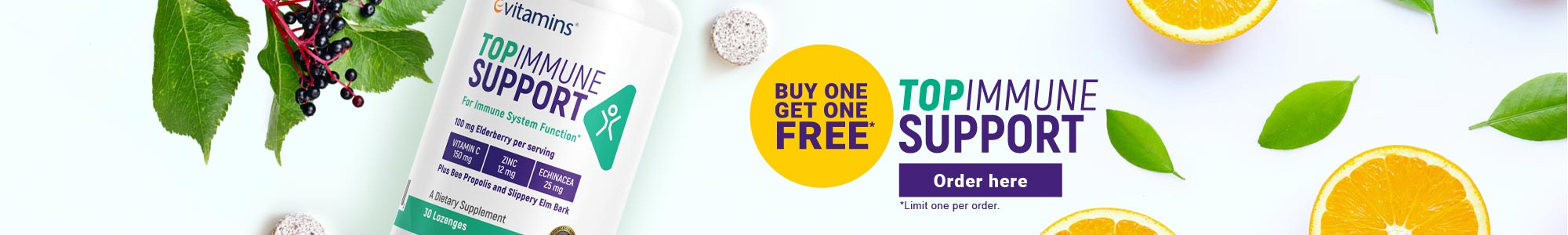 Buy one get one free! eVitamins Top Immune Support. Order here.
