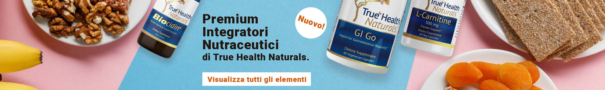 Nuovo! Premium Integratori Nutraceutici di True Health Naturals. Visualizza tutti gli elementi.
